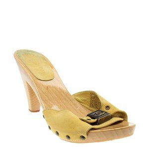 Chanel G24511 Yellow Slide Heelsx Size 39 185025